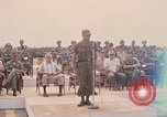 Image of Dr Seamans and other VIP'S addressing Vietnamese troops Soc Trang Air Base Vietnam, 1970, second 10 stock footage video 65675026829