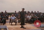 Image of Dr Seamans and other VIP'S addressing Vietnamese troops Soc Trang Air Base Vietnam, 1970, second 11 stock footage video 65675026829