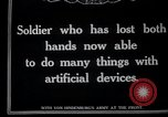 Image of Wounded German soldier without hands Germany, 1915, second 1 stock footage video 65675026879