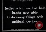 Image of Wounded German soldier without hands Germany, 1915, second 3 stock footage video 65675026879