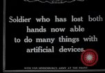 Image of Wounded German soldier without hands Germany, 1915, second 7 stock footage video 65675026879