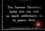 Image of Deutsches Derby Hamburg Germany, 1915, second 1 stock footage video 65675026880