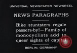 Image of Unicyclists Berlin Germany, 1930, second 2 stock footage video 65675026884