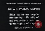 Image of Unicyclists Berlin Germany, 1930, second 3 stock footage video 65675026884