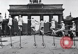 Image of Unicyclists Berlin Germany, 1930, second 29 stock footage video 65675026884