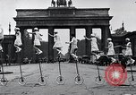 Image of Unicyclists Berlin Germany, 1930, second 30 stock footage video 65675026884