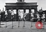Image of Unicyclists Berlin Germany, 1930, second 32 stock footage video 65675026884