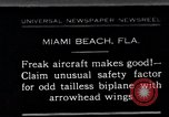 Image of Arrowhead Safety Plane Miami beach Florida USA, 1930, second 1 stock footage video 65675026885