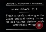 Image of Arrowhead Safety Plane Miami beach Florida USA, 1930, second 2 stock footage video 65675026885