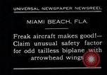 Image of Arrowhead Safety Plane Miami beach Florida USA, 1930, second 3 stock footage video 65675026885
