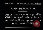 Image of Arrowhead Safety Plane Miami beach Florida USA, 1930, second 4 stock footage video 65675026885