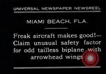 Image of Arrowhead Safety Plane Miami beach Florida USA, 1930, second 5 stock footage video 65675026885
