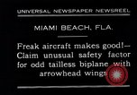 Image of Arrowhead Safety Plane Miami beach Florida USA, 1930, second 9 stock footage video 65675026885