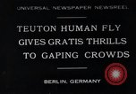 Image of dangerous performance Berlin Germany, 1930, second 1 stock footage video 65675026888