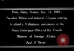 Image of Woodrow Wilson Paris France, 1919, second 1 stock footage video 65675026947