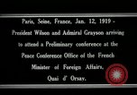 Image of Woodrow Wilson Paris France, 1919, second 2 stock footage video 65675026947
