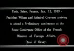 Image of Woodrow Wilson Paris France, 1919, second 3 stock footage video 65675026947