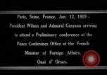 Image of Woodrow Wilson Paris France, 1919, second 4 stock footage video 65675026947