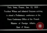 Image of Woodrow Wilson Paris France, 1919, second 5 stock footage video 65675026947