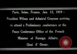 Image of Woodrow Wilson Paris France, 1919, second 7 stock footage video 65675026947