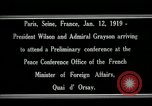 Image of Woodrow Wilson Paris France, 1919, second 9 stock footage video 65675026947