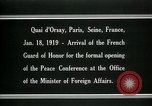 Image of french Guard of Honor Paris France, 1919, second 5 stock footage video 65675026949