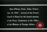 Image of french Guard of Honor Paris France, 1919, second 7 stock footage video 65675026949