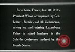 Image of Woodrow Wilson Paris France, 1919, second 3 stock footage video 65675026953