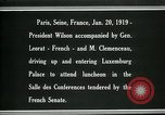 Image of Woodrow Wilson Paris France, 1919, second 5 stock footage video 65675026953