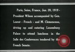 Image of Woodrow Wilson Paris France, 1919, second 8 stock footage video 65675026953