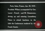 Image of Woodrow Wilson Paris France, 1919, second 9 stock footage video 65675026953