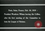 Image of Woodrow Wilson Paris France, 1919, second 2 stock footage video 65675026958
