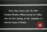 Image of Woodrow Wilson Paris France, 1919, second 3 stock footage video 65675026958