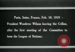 Image of Woodrow Wilson Paris France, 1919, second 4 stock footage video 65675026958