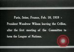 Image of Woodrow Wilson Paris France, 1919, second 6 stock footage video 65675026958