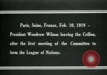 Image of Woodrow Wilson Paris France, 1919, second 7 stock footage video 65675026958