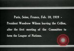 Image of Woodrow Wilson Paris France, 1919, second 12 stock footage video 65675026958