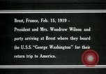 Image of Woodrow Wilson Brest France, 1919, second 1 stock footage video 65675026959