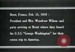 Image of Woodrow Wilson Brest France, 1919, second 6 stock footage video 65675026959