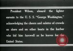 Image of Woodrow Wilson Brest France, 1919, second 7 stock footage video 65675026961