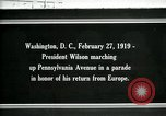 Image of Woodrow Wilson Washington DC USA, 1919, second 1 stock footage video 65675026967