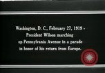 Image of Woodrow Wilson Washington DC USA, 1919, second 2 stock footage video 65675026967