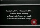 Image of Woodrow Wilson Washington DC USA, 1919, second 4 stock footage video 65675026967