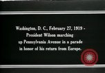 Image of Woodrow Wilson Washington DC USA, 1919, second 5 stock footage video 65675026967