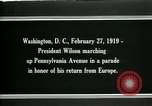Image of Woodrow Wilson Washington DC USA, 1919, second 6 stock footage video 65675026967