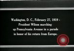 Image of Woodrow Wilson Washington DC USA, 1919, second 7 stock footage video 65675026967