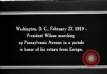 Image of Woodrow Wilson Washington DC USA, 1919, second 11 stock footage video 65675026967