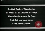 Image of Woodrow Wilson Paris France, 1919, second 8 stock footage video 65675026971