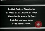 Image of Woodrow Wilson Paris France, 1919, second 9 stock footage video 65675026971