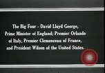 Image of David Lloyd George Paris France, 1919, second 4 stock footage video 65675026975